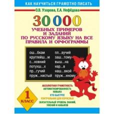 30000 учебных примеров и заданий по русскому языку на все правила и орфограммы. 1 класс