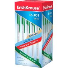 Ручка шариковая ErichKrause. R-301 Classic Stick 1.0. Зеленая