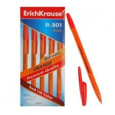 Ручка шариковая ErichKrause. R-301 Orange Stick 0.7. Красная