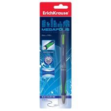 Ручка шариковая автоматическая ErichKrause. MEGAPOLIS Concept  0.7. Синяя. В блистере
