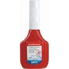 Корректирующая жидкость с пластиковым наконечником ErichKrause. Arctic white, 18мл