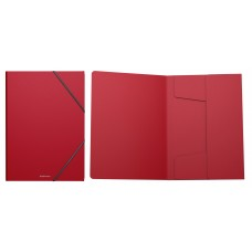 Папка пластиковая на резинках ErichKrause. A4. Classic, красный