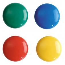 Магниты для магнитно-маркерных досок ErichKrause. 2см. 12 штук. Цветные