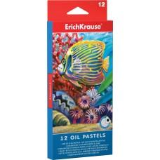 Масляная пастель ErichKrause. 12 цветов