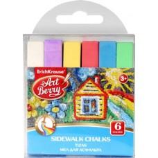 Мел для асфальта ArtBerry. 6 цветов