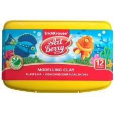 Классический пластилин  ArtBerry. С Алоэ Вера. 12 цветов со стеком. 216г
