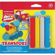 Пластилин мягкий ArtBerry? Transport Step-by-step Сreation 4 цвета с инструкцией