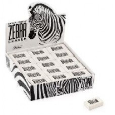 Ластик из натурального каучука Hatber Zebra. 26х18х8 мм