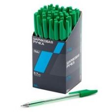 Ручка Hatber шариковая. Зеленая