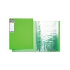 Папка Пластиковая. 20 вкладышей. А4. 700мкм. Hatber. DIAMOND NEON Зеленая