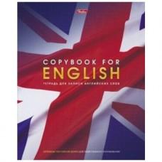 Тетрадь-словарик для записи Английских слов. 48 листов. А5. Со справочной информацией. Английский флаг