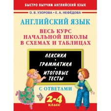 Английский язык. Весь курс начальной школы в схемах и таблицах. 2-4 классы