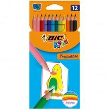 Карандаши цветные пластиковые BIC. Tropicolors2. 12 цветов. Заточеный