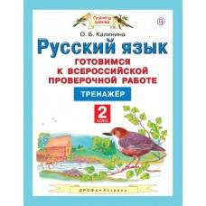 Русский язык. Готовимся к Всероссийской проверочной работе. 2 класс. Тренажёр
