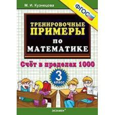 5000 примеров по математике. Счет в пределах 1000. 3 класс. ФГОС
