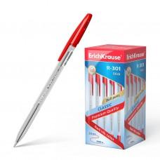 Ручка шариковая. ErichKrause. R-301 Classic Stick. 1,0. Цвет чернил красный