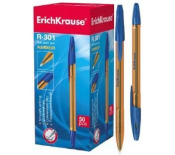 Ручка шариковая ErichKrause. R-301 AMBER 0.7 Stick. Синяя
