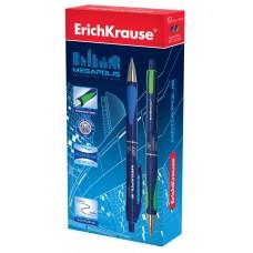 Ручка шариковая автоматическая ErichKrause. MEGAPOLIS Concept  0,7. Синяя