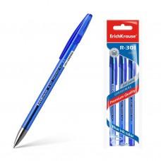 Ручка гелевая ErichKrause. R-301 Original Gel. 0,5. Цвет чернил синий. Комплект из 3 штук