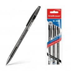 Ручка гелевая ErichKrause. R-301 Original Gel. 0,5. Цвет чернил черный. Комплект из 3 штук