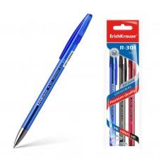 Ручка гелевая ErichKrause. R-301 Original Gel. 0,5. Цвет чернил: синий, черный, красный. Комплект из 3 штук