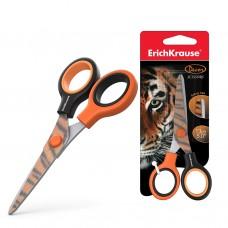 Ножницы ErichKrause. Decor Tiger с принтом на лезвиях. 13см. В блистере