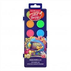 Краски акварельные ArtBerry Neon. С УФ защитой яркости. 12 цветов