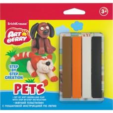 Пластилин мягкий ArtBerry? Pets Step-by-step Сreation 4 цвета с инструкцией