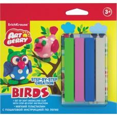 Пластилин мягкий  ArtBerry. Birds Step-by-step Сreation. 4 цвета с инструкцией