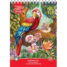Альбом для рисования на спирали. ArtBerry. Попугай. А4. 20 листов