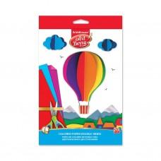 Цветная бумага двусторонняя мелованная. ErichKrause. ArtBerry. В5. 10 листов, 20 цветов. Игрушка-набор для детского творчества