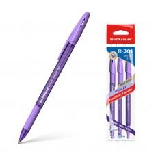 Ручка шариковая. ErichKrause. R-301 Violet Stick&Grip. 0,7. Цвет чернил фиолетовый