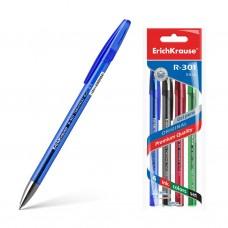 Ручка гелевая ErichKrause. R-301 Original Gel. 0,5. Цвет чернил: синий, черный, красный, зеленый. Комплект из 4 штук