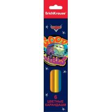 Цветные карандаши шестигранные. ErichKrause. Тачки. 6 цветов. Ретро ралли