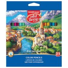 Карандаши цветные шестигранные ArtBerry Premium. 24 цвета