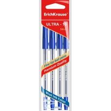 Ручка шариковая. ErichKrause. ULTRA-10. Цвет чернил синий. В пакете по 4 шт