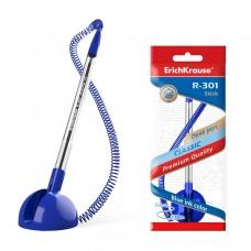 Ручка шариковая. ErichKrause. R-301 Desk Pen 1,0. Синяя