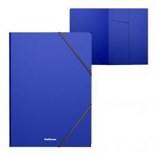 Папка на резинках пластиковая  ErichKrause. A4. Classic. Синяя