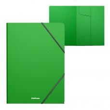 Папка на резинках пластиковая  ErichKrause. A4. Classic. Зеленая