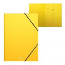 Папка на резинках пластиковая  ErichKrause. A4. Classic. Желтая