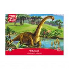 Альбом для рисования. ErichKrause. ArtBerry. Эра динозавров. А4. Клеевое скрепление. 20 листов