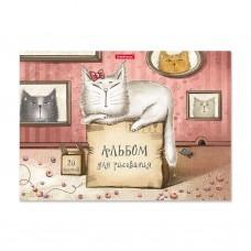 Альбом для рисования. ErichKrause. ArtBerry. Cat & Box. А4. Клеевое скрепление. 20 листов