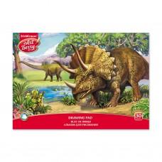 Альбом для рисования. ErichKrause. ArtBerry. Эра динозавров. А4. Клеевое скрепление. 30 листов