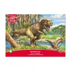 Альбом для рисования. ErichKrause. ArtBerry. Эра динозавров. А4. Клеевое скрепление. 40 листов