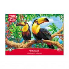 Альбом для рисования. ErichKrause. ArtBerry. Экзотические птицы. А4. Клеевое скрепление. 40 листов