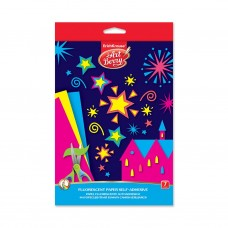 Флуоресцентная бумага самоклеящаяся. ErichKrause. ArtBerry. В5. 7 листов, 7 цветов. Игрушка-набор для детского творчества. В папке с подвесом