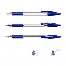 Ручка шариковая автоматическая. ErichKrause. R-301 Classic Matic&Grip. 1,0. Цвет чернил синий