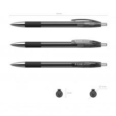 Ручка гелевая автоматическая. ErichKrause. R-301 Original Gel Matic&Grip. Цвет чернил черный