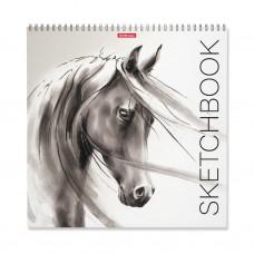 Альбом для эскизов. ErichKrause. 226 Wild Horse. 40 листов. На спирали. 297x297 мм
