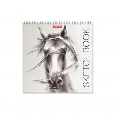 Альбом для эскизов. ErichKrause. 226 Wild Horse. 40 листов. На спирали. 220х220 мм
